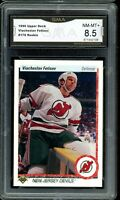 1990 Upper Deck #176 Viacheslav Fetisov RC Rookie Graded GMA 8.5 COMP TO PSA