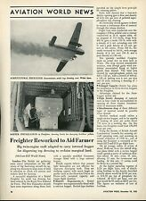 1950 Aviation Article Bristol Freighter used for Farming London England