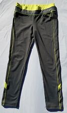 Girls Justice Leggings Size 12 Athletic Gray  Neon