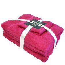 Juego de toallas de baño y albornoces color principal rosa 100% algodón