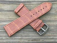 Replacement Band Strap For Watch Brown Vegan Anti Allergic Strap Size 26mm