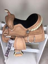 "13"" New Western Leather Youth Child Kids Trail Barrel Horse Saddle"