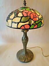 "Tiffany Style Table Desk Lamp Cardinal Bird Accent 16""."