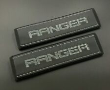 Ford Ranger truck Seat Belt Shoulder Pads Covers Dark Grey embroidery 2PCS