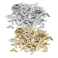 100pcs Tone Scrapbooking Albums Corner Protectors Card File Menu Metal Book P4PM