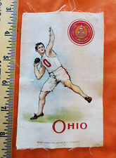 Vintage 1910s Murad Cigarettes tobacco silk Ohio State Shot Put Buckeyes
