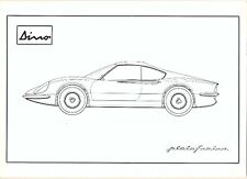 Ferrari 206GT Dino by Pininfarina original brochure - the first Dino brochure