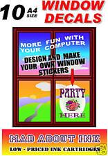 Inkjet Static Window Cling Film 10x A4 sheets 300Micron