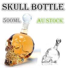 Glass Skull Liqour Bottle 500ml Party Drink Bar Novelties Gift Vodka Spirits