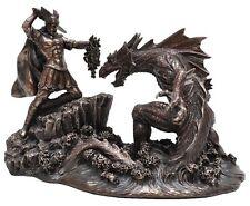 Veronese Bronze Figurine Greek Mythology Persus battling Keto lifting Medusa