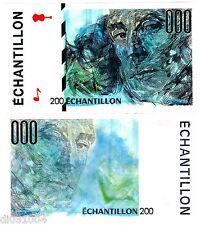 FRANCE TEST NOTE ECHANTILLON ORIGINAL BANQUE DE FRANCE 200 MAURICE RAVEL NEUF