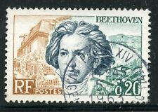 STAMP / TIMBRE FRANCE OBLITERE N° 1382 / CELEBRITE / BEETHOVEN