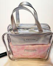 New Tahari 3 Piece Organizer Petals Silver T98648 /635R Makeup Bag Travel Pro