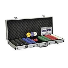 Pokerkoffer Pokerset mit 500 Standard Pokerchips Poker Chips im Alu Koffer
