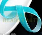 "10yards 3/8""10mm Velvet Ribbon Bows Wedding Party Decoration Sew Bluish Green"