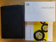 GENUINE HONDA CIVIC 5 DOOR OWNERS MANUAL HANDBOOK WALLET 2005–2008 PACK C-974