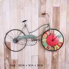 "32"" Retro Style Bicycle Bike Clock Home Horologe Wall Clock Ornament Iron Art"