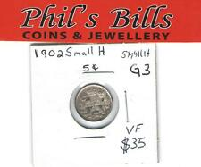 1902 SMALL  H  5 CENT GRADED VF $ 35.00 G3