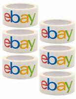 "Official eBay Branded Packing Tape - Multi-Pack 6 Rolls - 2"" x 75'"