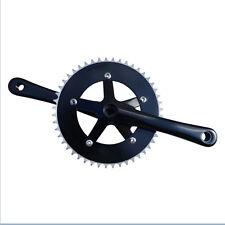 NUOVO traccia di alta qualità attrezzi fissi Strada Bicicletta Guarnitura 48t 170mm Nero