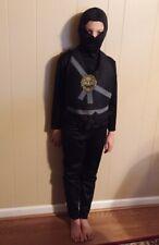 Ninja Child Boys Costume, Black , 4 Pieces, Size Small