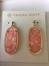New Kendra Scott Elle Drop Earrings In Pink Blush Pearl / Gold
