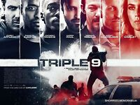 Cinema Poster: TRIPLE 9 (2016) Original UK quad action movie poster 30 x 40 inch