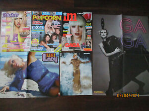 LADY GAGA POSTERS CLIPPINGS ARTICLE HUNGARIAN LOT PLUS 2 COMPLETE MAGAZINES