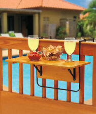 FOLDING DECK PATIO TABLE - NATURAL WOOD HOLDS UP TO 50 LBS.