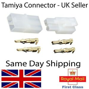 Tamiya Connectors Plugs -Pairs Male Female Battery ESC Lipo Charger RC Models UK