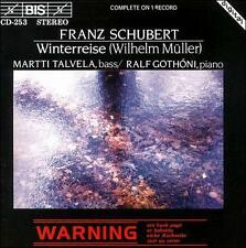 "SCHUBERT ""WINTERREISE"" MARTTI TALVELA/RALF GOTHONI BIS CD 1983 RECORDING RARE!"