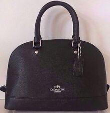 NWT Coach 57524 Sierra Satchel Crossgrain Leather handbag Black