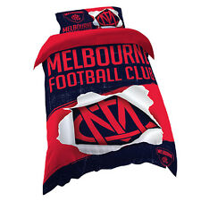 Melbourne Demons AFL SINGLE Bed Quilt Doona Duvet Cover Set *NEW 2018 GIFT Idea