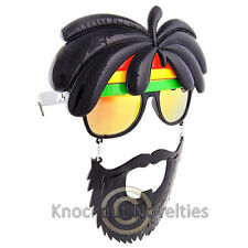 Sun-Staches - Rasta Sun Sunglasses Glasses Eyes Face Mask Lens Gift Eye Protect
