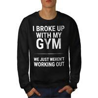 Wellcoda Sarcastic Gym Funny Mens Sweatshirt,  Casual Pullover Jumper