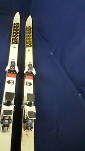 Vintage 710-FO K2 Lake Placid Olympics Team Race Skis Salomon 747 Bindings Decor