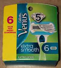 Venus Extra Smooth Women's Razor Blade Refills 6 Cartridges Value Pack