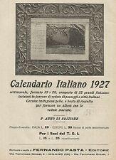 W0285 CALENDARIO ITALIANO 1927 - Pubblicità 1927 - Advertising