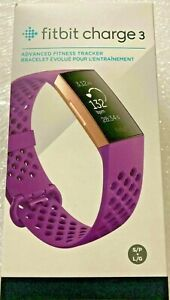 Fitbit Charge 3 Activity Tracker, Heart Rate, Berry/Rose Gold, FB409RGMG