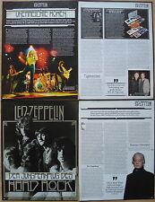 10 Seiten Berichtesammlung __ Led Zeppelin  [ Plant + Page ] __  Page Collection