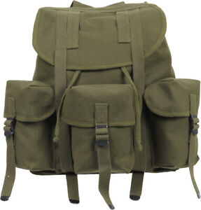 Canvas Mini Alice Pack Military Bag Heavy Duty Rucksack Backpack School Knapsack