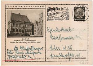 Ganzsache Bildpostkarte Deutsches Reich P236 37-102-1-B7 Osnabrück gebraucht