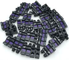 LEGO NEW BLACK MINIFIGURE LEGS PANTS PURPLE KNEE PADS PIECES