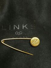 Links of London 18K Yellow Gold Vermeil Narrative Charm Pin/ Safety Pin
