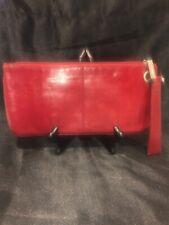 Hobo International Zoe Wallet Red Soft Leather Wristlet Clutch Organizer