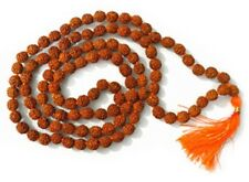5 MUKHI LORD SHIVA HINDU -BUDHA YOGA 108+1 RUDRAKSHA BEADED 6MM PRAYER MALA