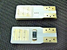 2 Amber Yellow Double Sided Side Marker License Plate Clock LED Lights Bulb Ford