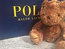 BNWOT Ralph Lauren Lujo Marrón Suave Peluche Osito extremadamente Raro Promocional