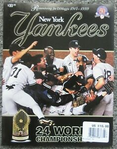 NEW YORK YANKEES 1999 TEAM YEARBOOK 24 CHAMPIONSHIPS WORLD SERIES JETER