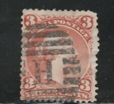 Canada #25 used F 1868 Queen Victoria 3 cent red Large Queen 'H' Duplex cancel